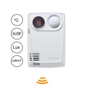 Datalogger med intern temp/fukt/lux/UV - Testo 160 THL