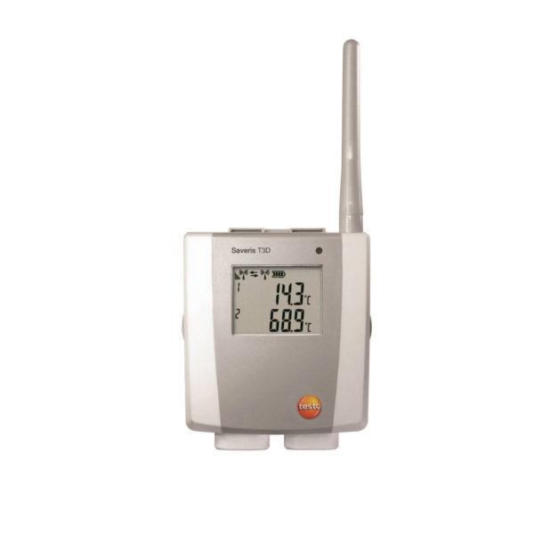 2-kanals radio TC-temperaturføler med display - Saveris T3 D