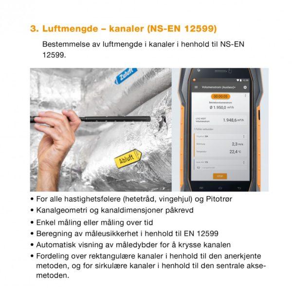 3. Meny Luftmengde i kanaler - NS-EN 12599