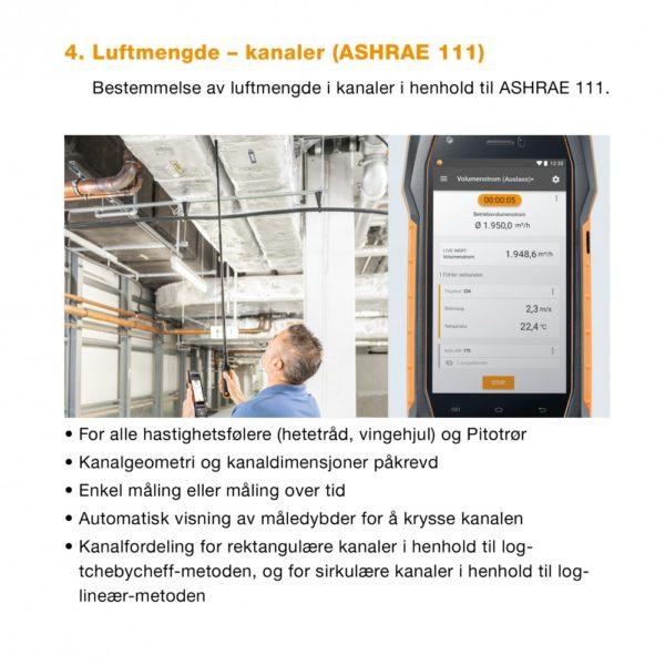 4. Meny Luftmengde - kanaler ASHRAE 111