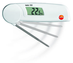 Mini foldetermometer - Testo 103 (Måleområde: - 30 - + 220 C)