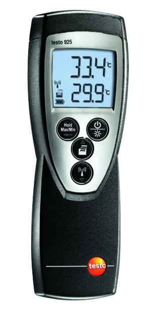 Temperaturmåler Type K- Testo 925 (Måleområde -50 - +1000C)
