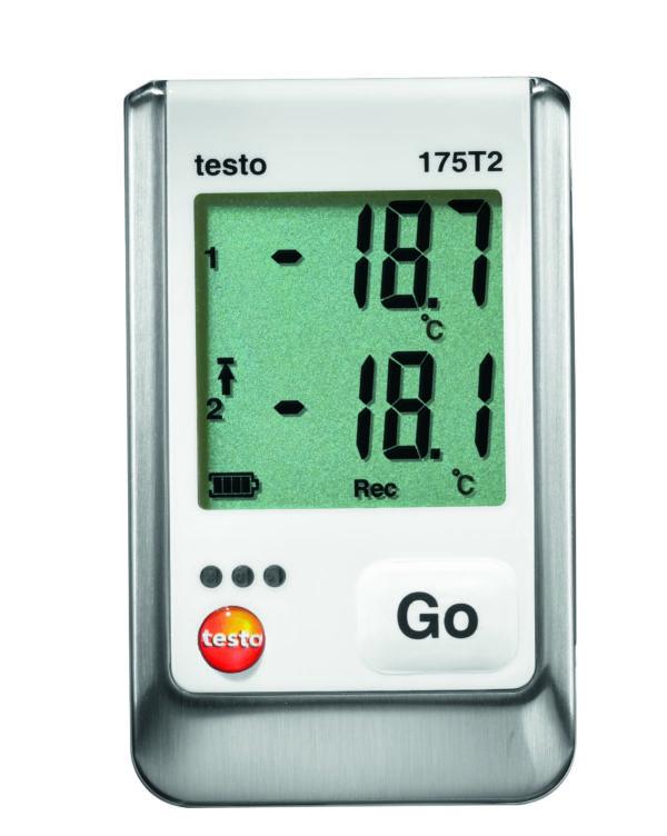To kanals NTC Temperaturdatalogger - Testo 175 T2