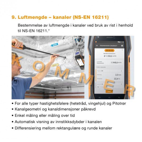 9. Meny Luftmengde - kanaler - NS-EN 16211