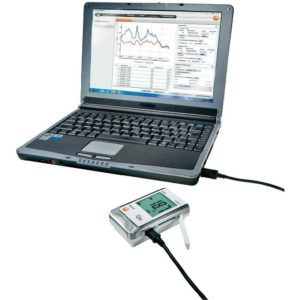 Datalogger Testo 176 P1 koblet til datamaskin