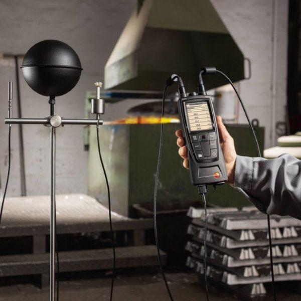 Globetermometer i bruk med Testo 480