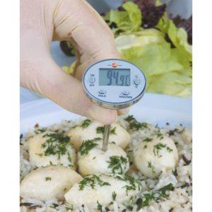 Innstikktermometer er godt egnet for måling av temperatur i mat