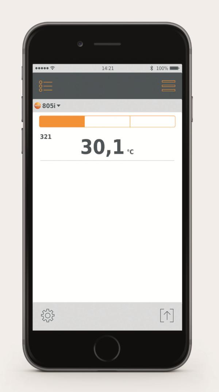 Måledata i mobilen - Testo 805i