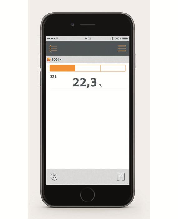 Måledata i mobilen - Testo 905i