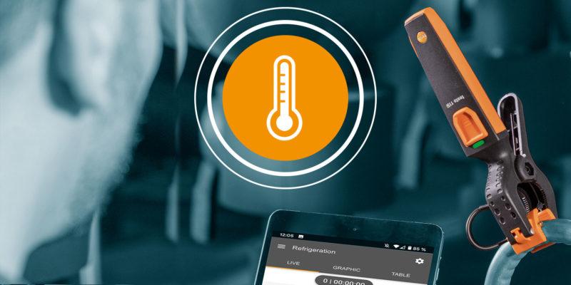 illustrasjon av smart temperaturføler med ikon
