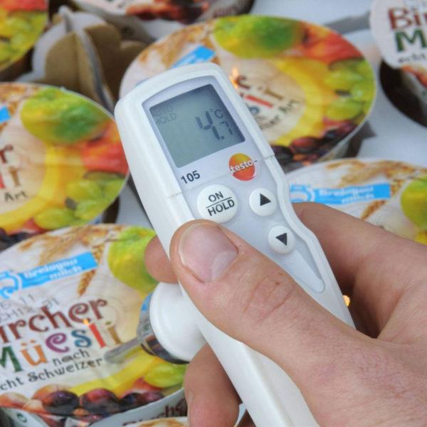 Temperaturmåling av yoghurt med Testo 105