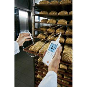 Temperaturmåling i bakeri med Testo 108-2