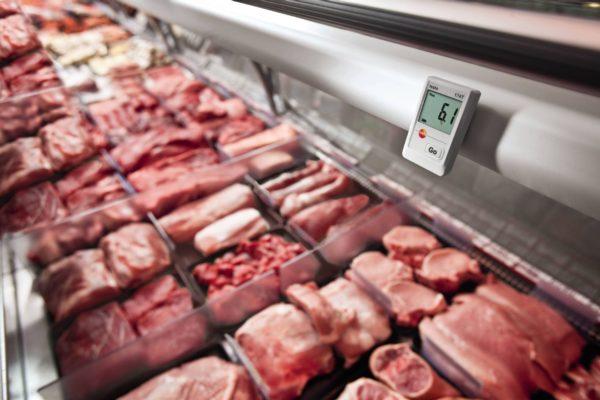 Temperaturovervåking i kjøttdisk Testo 174T