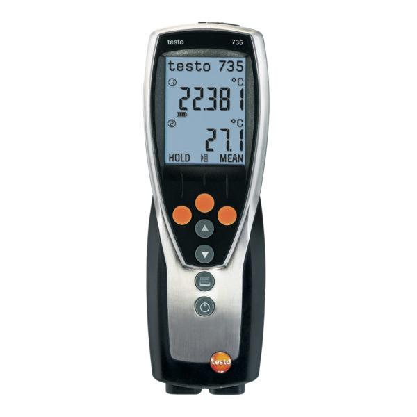 Temperaturmålerinstrument med PC-program og USB - Testo 735-2 (Måleområde -200 - +1370C føler avhengig)