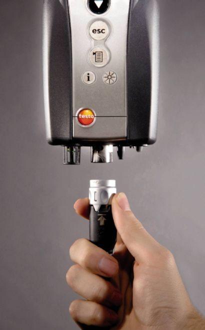 Tilkobbling gassføler - Testo 340