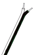 Enkel termoelementtråd type J isolert med PVC