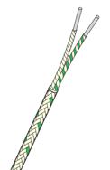 Termoelementtråd type K glassfiberisolert