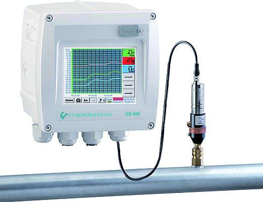 DS 400 Duggpunktsmåler for fast montering (-80/+20°C).