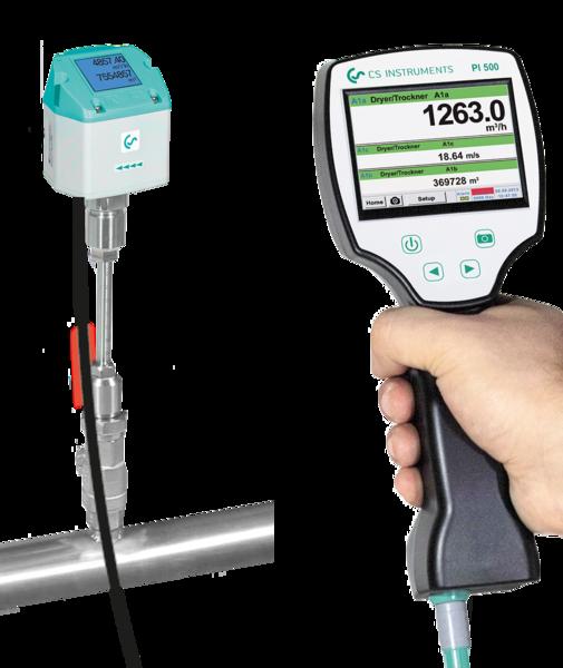 PI 500 for f.eks. bærbar strømningsmåling