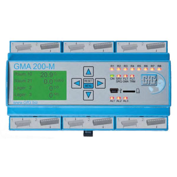 Skinnemontert kontrollsystem gasstransmittere -  GfG GMA200-MT