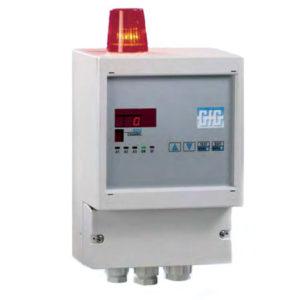 Komplett gass kontrollsystem integrert visuell og akustisk alarm - GfG GMA84A