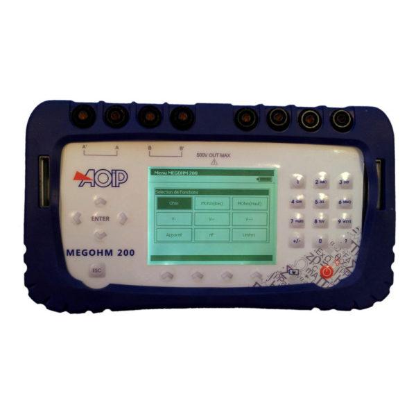 Testinstrument for isolasjonsmotstand i tele & lavspenningskabler - AOIP MEGOHM 200