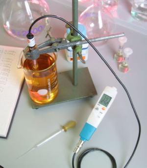 pH-måler for valgfri material