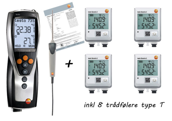 Proffpakken - Kalibrert referanseinstrument med trådløse dataloggere