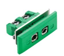 Standard termoelementkontakt type K hun for panelmontering