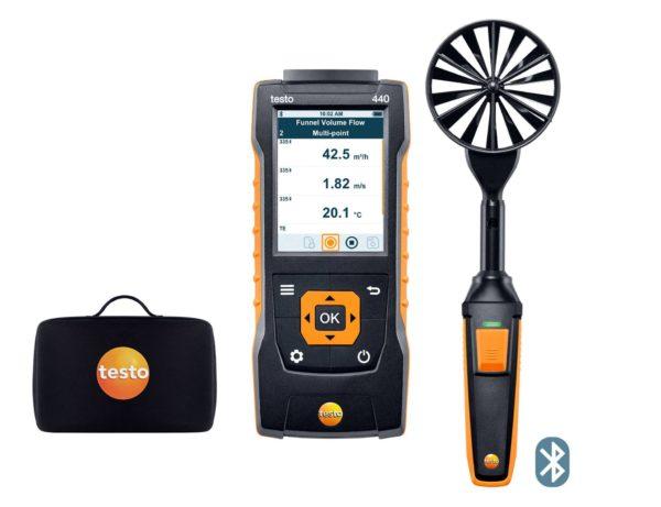 testo 440 100mm vingehjulssett med Bluetooth®