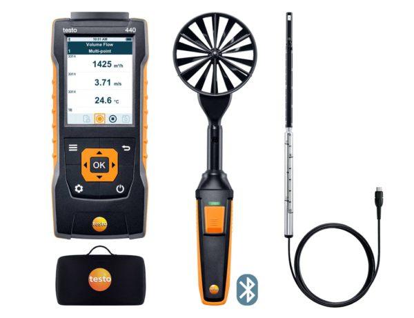 testo 440 Lufthastighet og mengde kombisett 1 med Bluetooth®