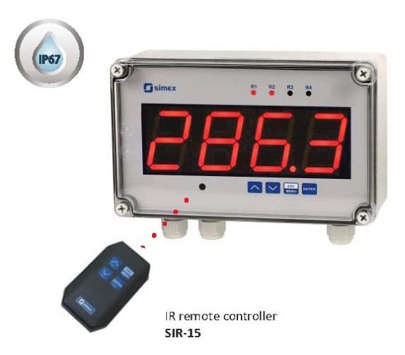 Storsiffer display for temperatur