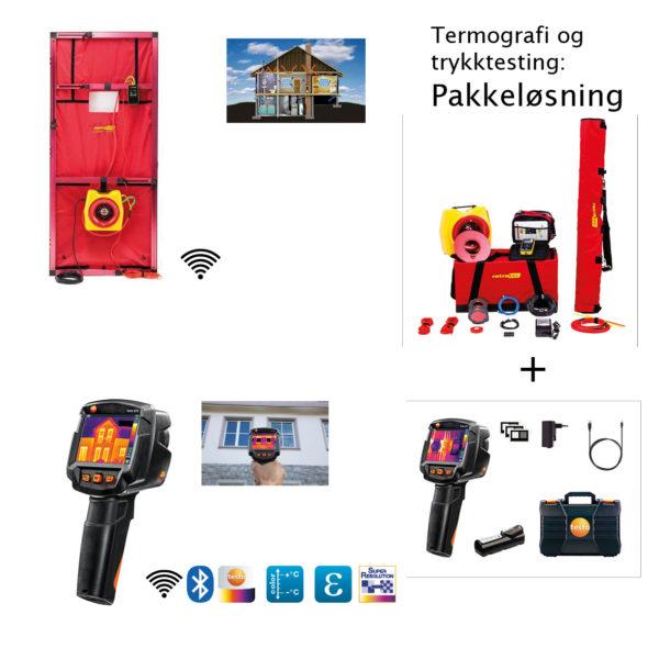 Trykktesting og termografering for mindre bygg