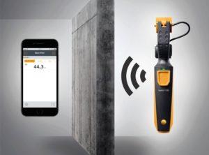 testo 115i sender måleverdier till app