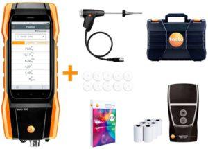 testo 300 Longlife kit 2 med skriver - Røykgassanalysator (O2