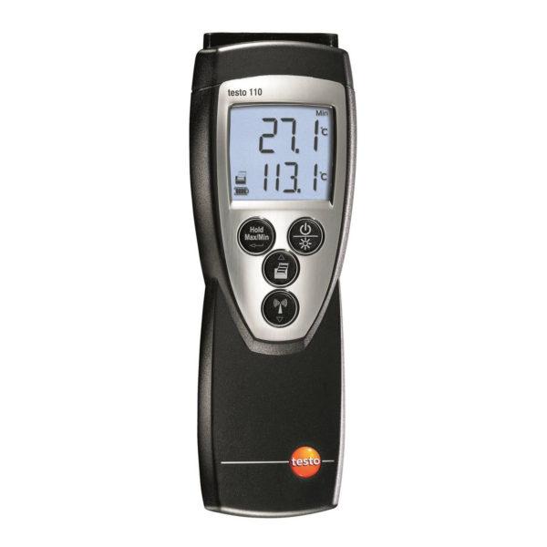 Nøyaktig Enkanals Temperaturmåler(NTC) - Testo 110 (Måleområde -50 - +150C)