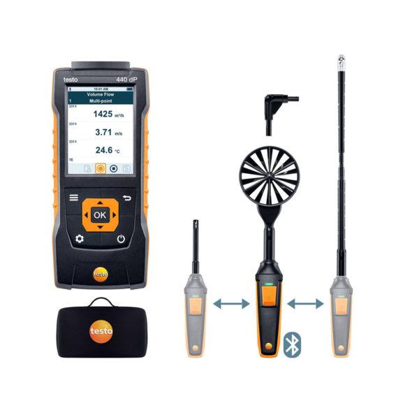 testo 440-DP Luftmengde kombisett 2 med Bluetooth®