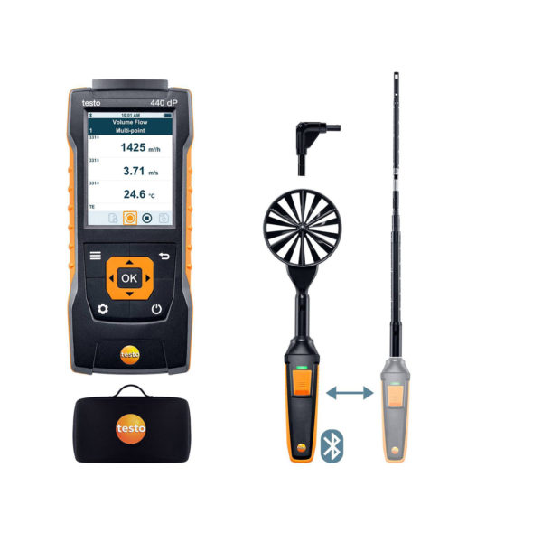 testo 440-DP Luftmengde Kombisett 1 med Bluetooth